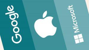 Last quarter, Apple, Google, and Microsoft spent $57 billion