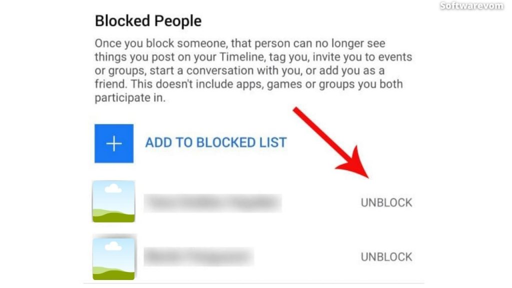 How To Unblock Someone On Facebook - Top Right-Hand Corner